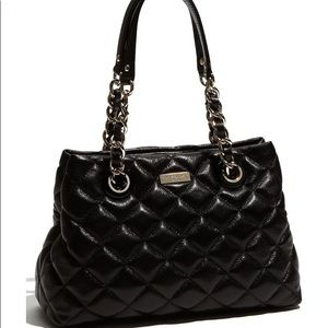 Kate Spade Maryanne Gold Coast Quilted Black Purse